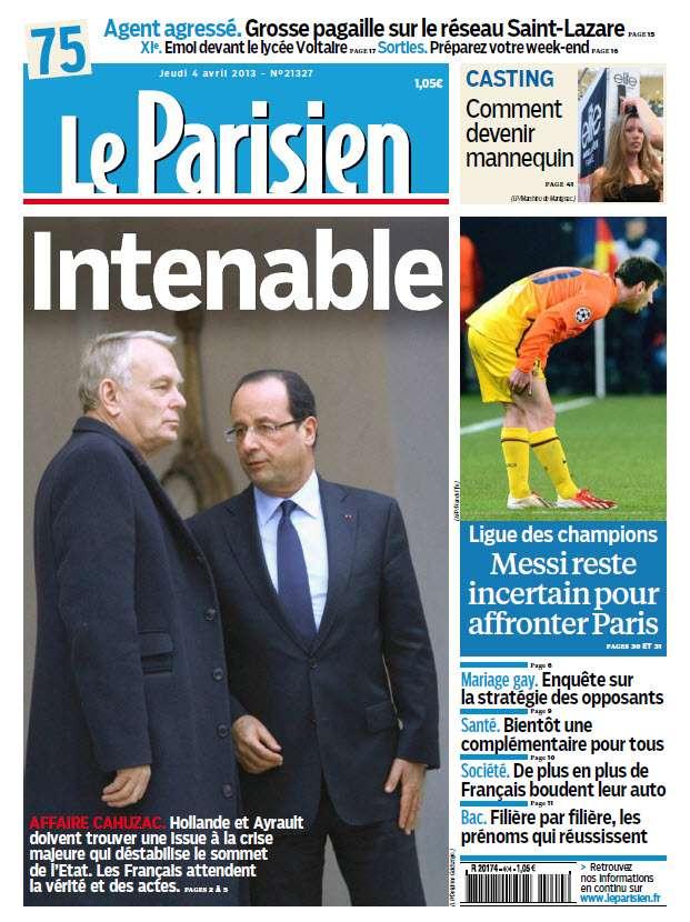 Le Parisien Jeudi 04 Avril 2013